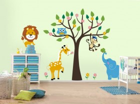 african-wild-life-kids-room-wall-sticker-ideas-927x691